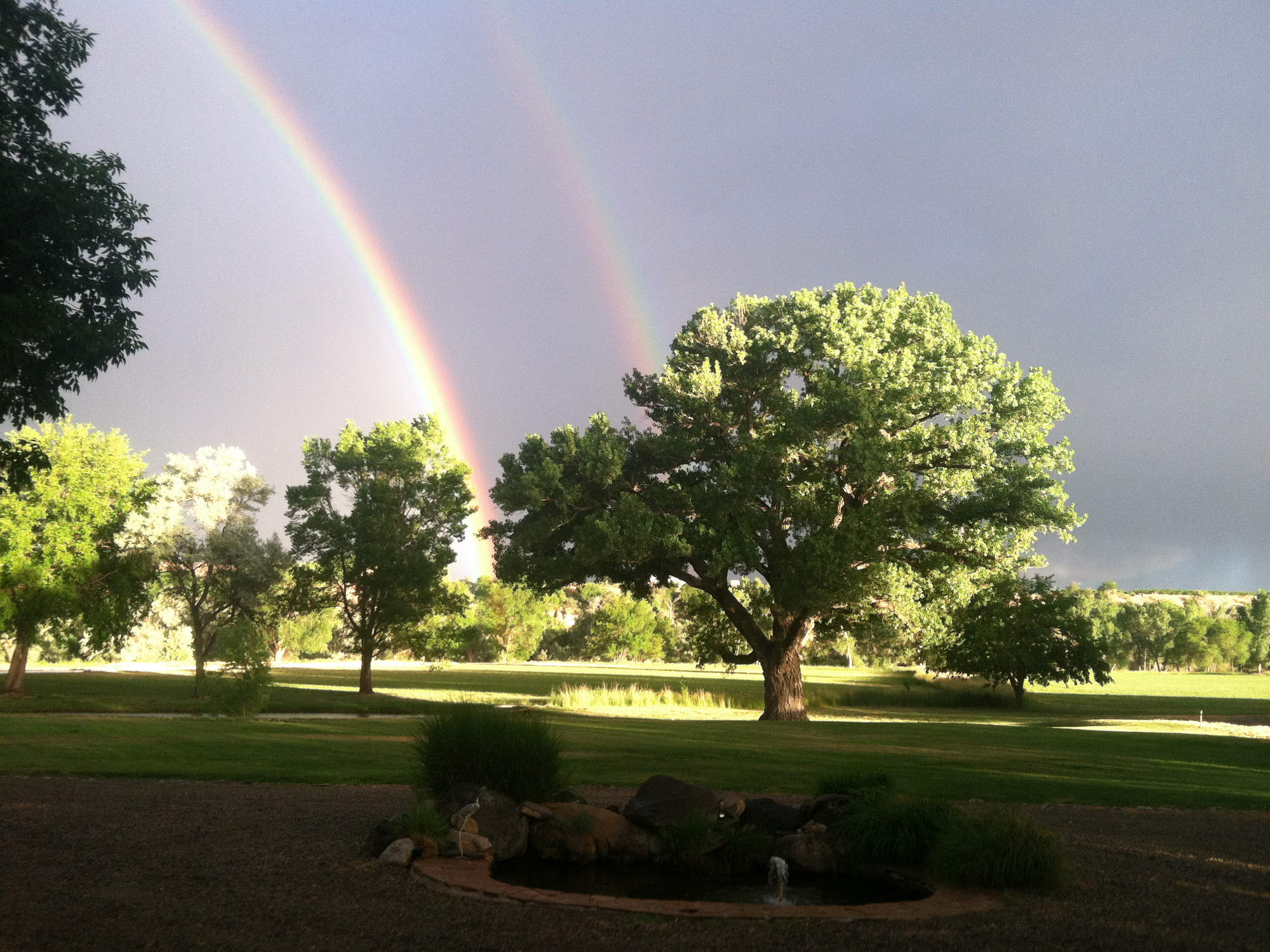 Front Lawn with Rainbow